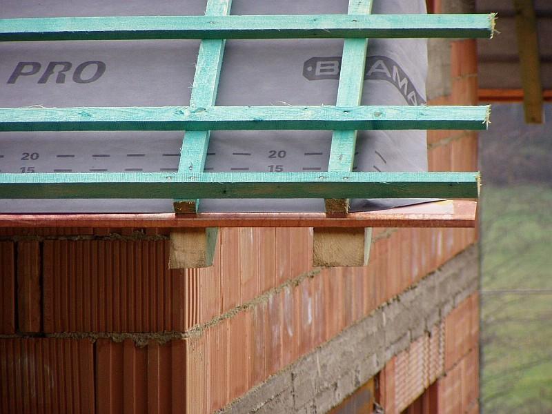 Návrh pojistných hydroizolací střech