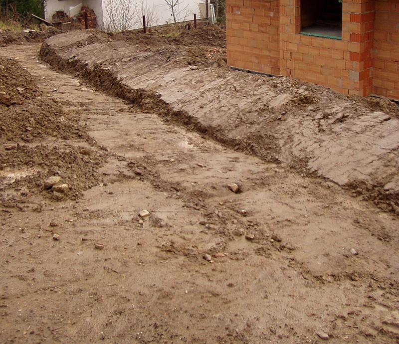 Venkovní úpravy pro odvodnění podzemních staveb