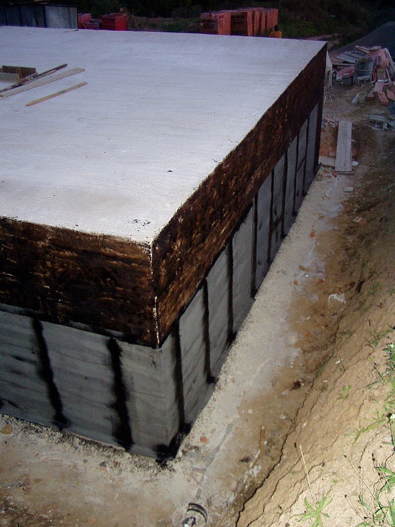 Hydroizolace spodní stavby z asfaltových pásů