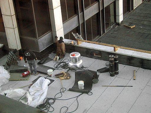 Hydroizolace plochých střech z asfaltových pásů