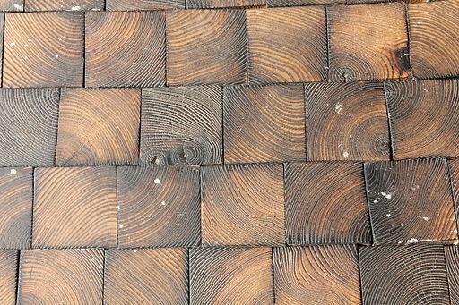 Podlaha z dřevěných špalíků