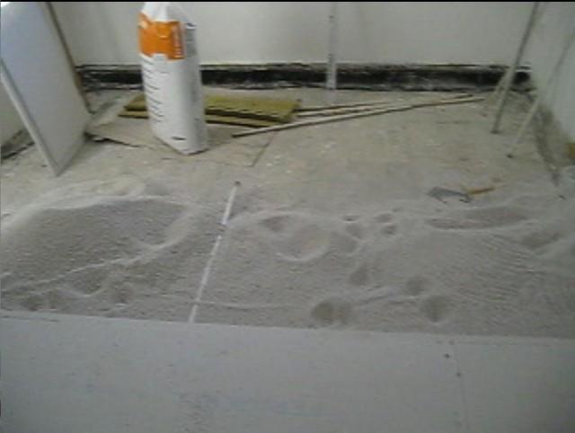 Pokládka podlahových desek Fermacell1