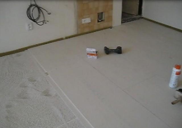 Pokládka podlahových desek Fermacell2