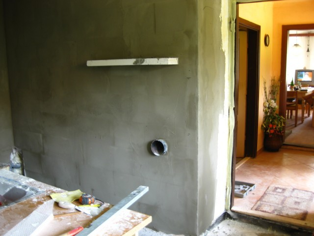 Stěrkování stěny4