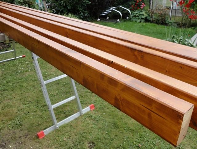 Dřevěné profily na zhotovení zastřešení terasy