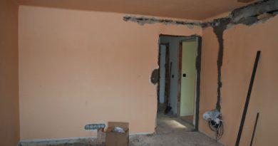 Původní stav a průběh rekonstrukce obývacího pokoje