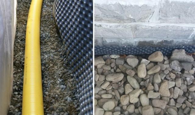 Položení drenážní trubky a srovnání s terénem