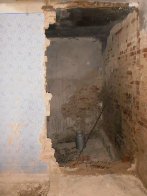 Bourací práce ve stěně