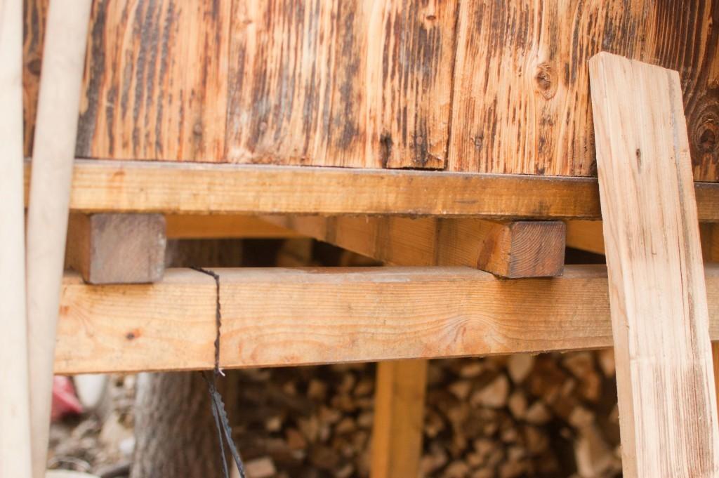 Detail uložení podlahy verandy