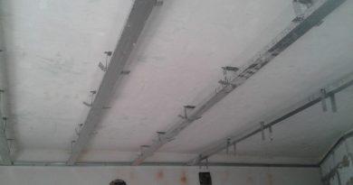 Osazení UD a CD profilů na původní strop