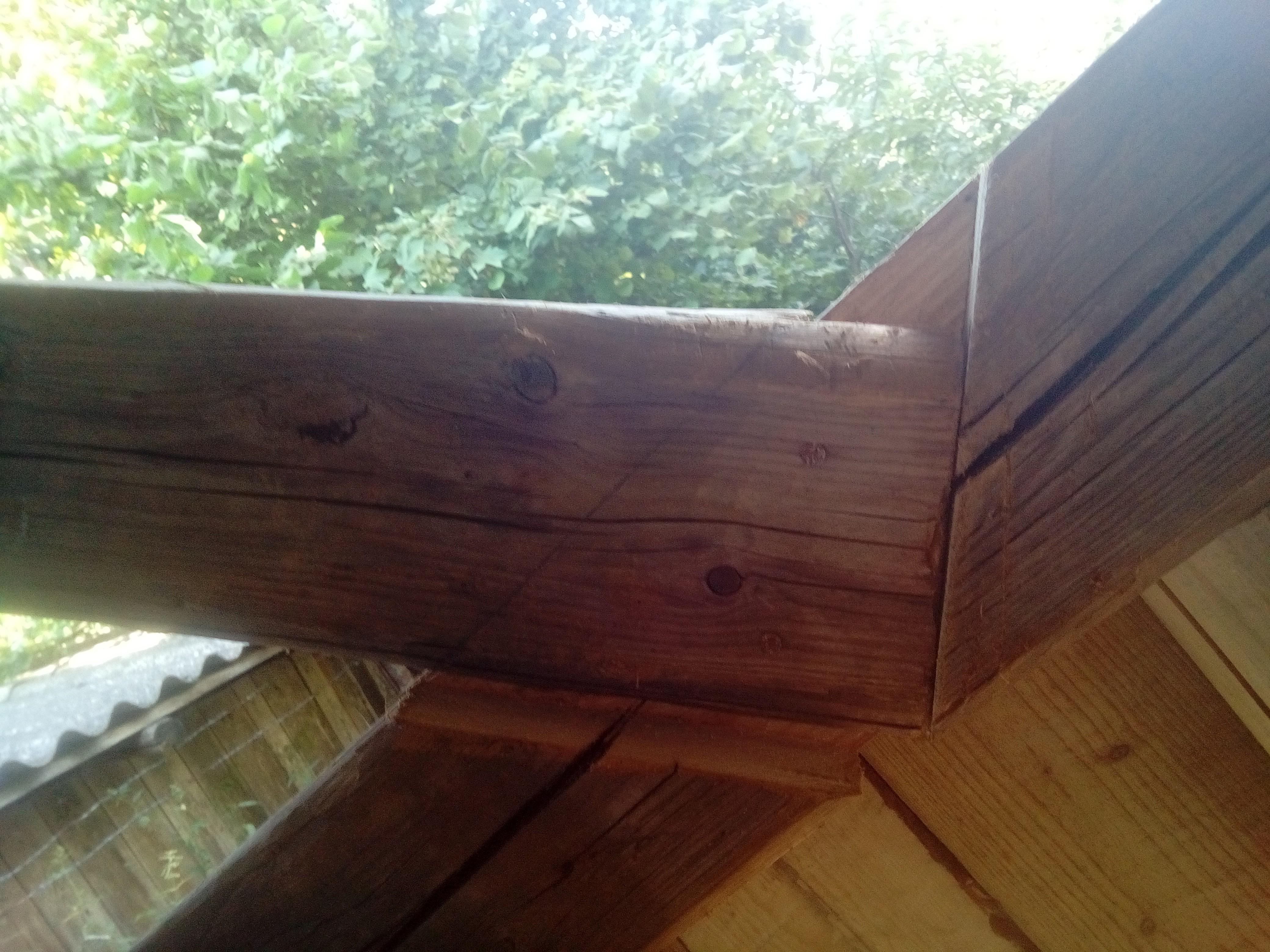 Detail spoje trámů
