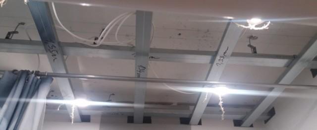 Konstrukce z CD profilu na sádrokartonový strop